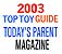 Today's Parents - 'Top Toy Guide' 2003