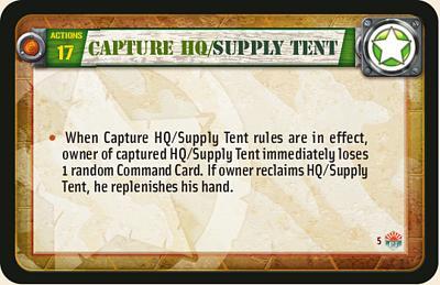 Capture HQ/supply Tent
