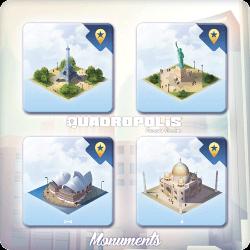 Les monuments de Quadropolis