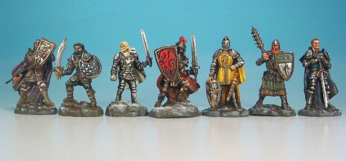 Les chevaliers peints les chevaliers de la table ronde - Jeu de societe les chevaliers de la table ronde ...
