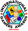 Named as Finalist for the 2009 International Gamers Award