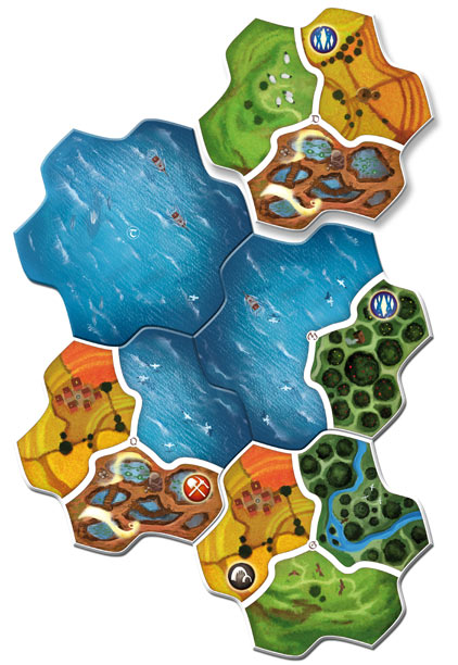 Quelques tuiles de Small World Realms