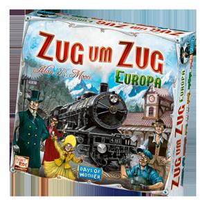 Spielschachtel von Zug um Zug Europa