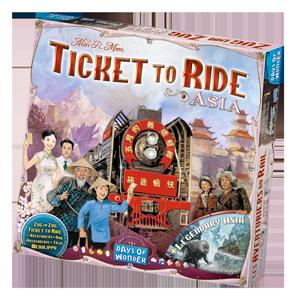 Spielschachtel von Zug um Zug Asien
