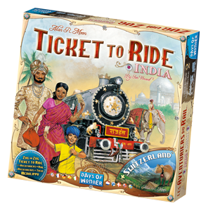 Spielschachtel von Zug um Zug Indien